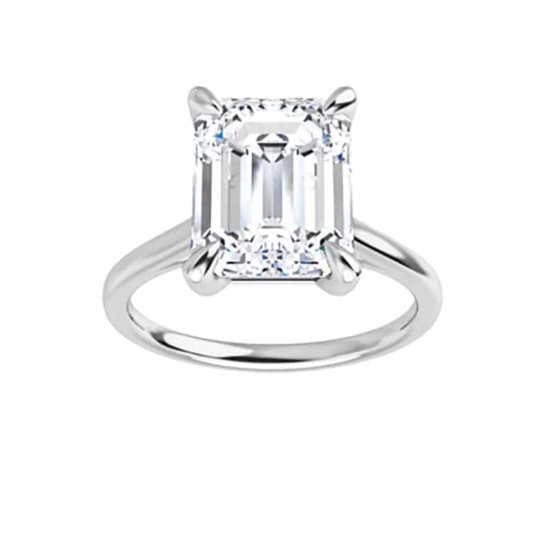 Emerald Moissanite Tiffany Style Solitaire Ring - 1.01ct - 3.55ct-122969em