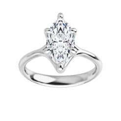 Marquise Moissanite Cathedral Solitaire Ring - 1.00tcw - 1.80tcw