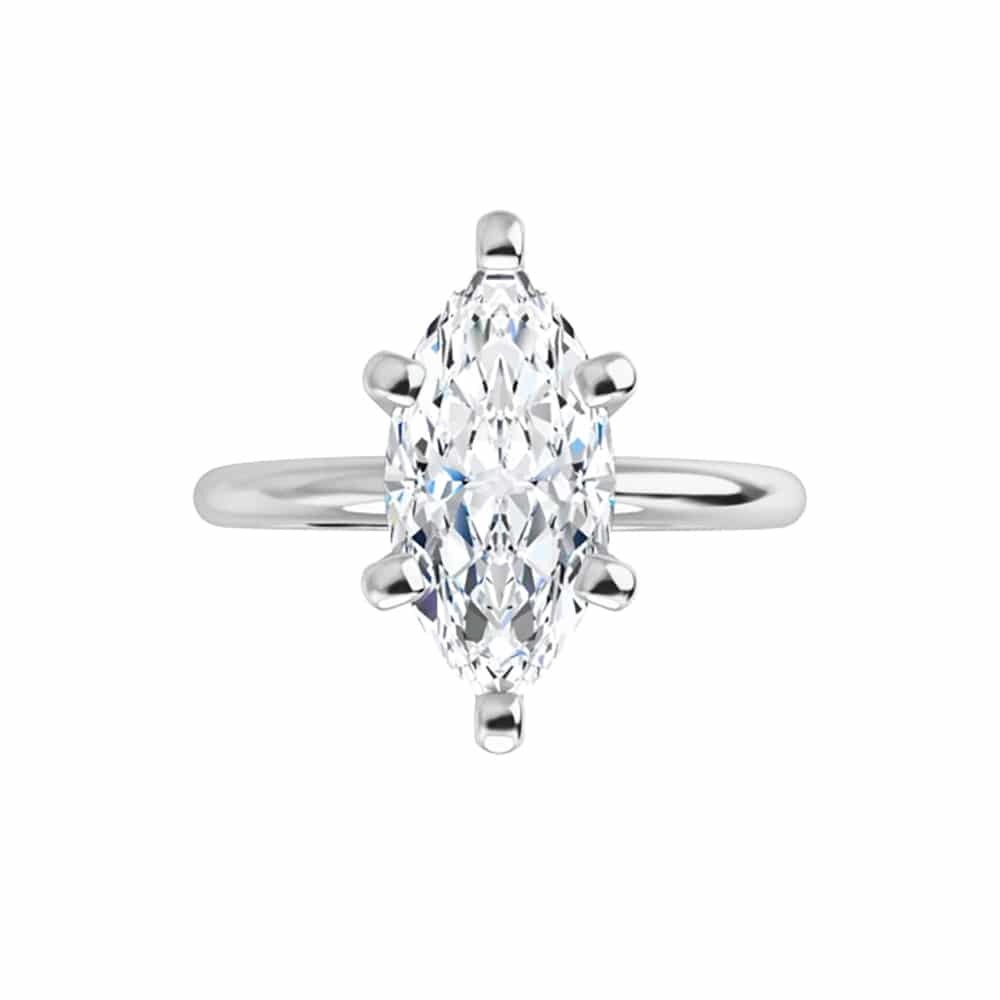 Marquise Moissanite Classic Solitaire Ring - 1.00ct - 1.80ct