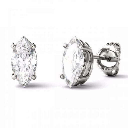 Marquise Moissanite Stud Earrings - 2.00tcw - 2.80tcw