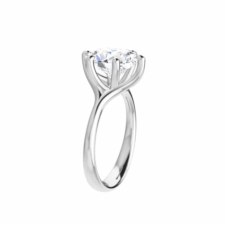 Oval Moissanite Cathedral Solitaire Ring - 0.90tcw - 5.80tcw