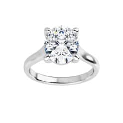 Oval Moissanite Lucida Solitaire Ring - 0.90tcw - 5.80tcw