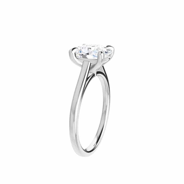 Oval Moissanite Tiffany Style Solitaire Ring - 0.90tcw - 2.10tcw-122969ov