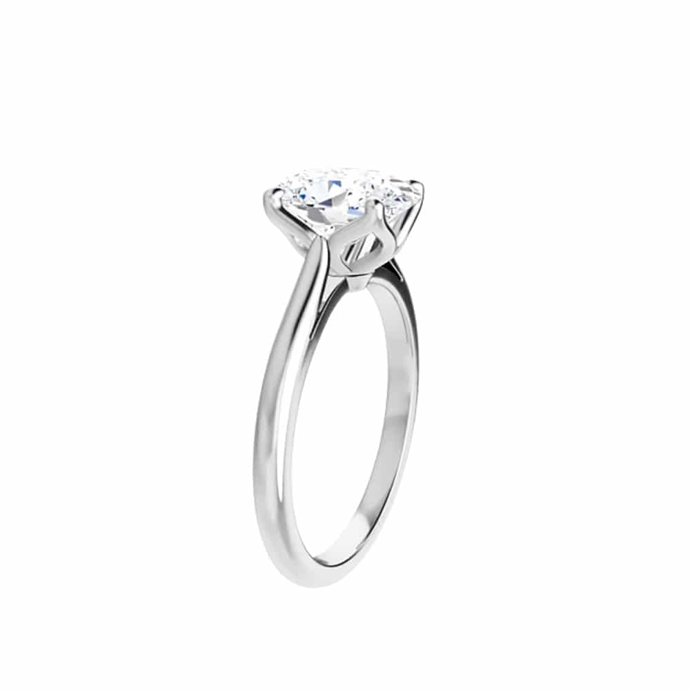 Oval Moissanite Unique Solitaire Ring - 0.90ct - 2.10ct