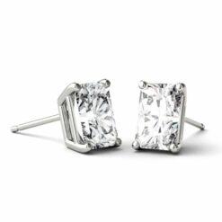 Radiant Moissanite Stud Earrings - 1.40tcw - 14.40tcw