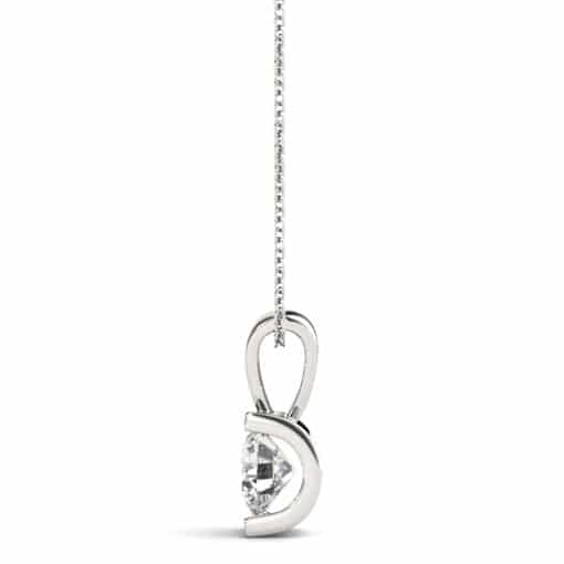 Round Moissanite Chanel Pendant - 0.50tcw - 1.00tcw