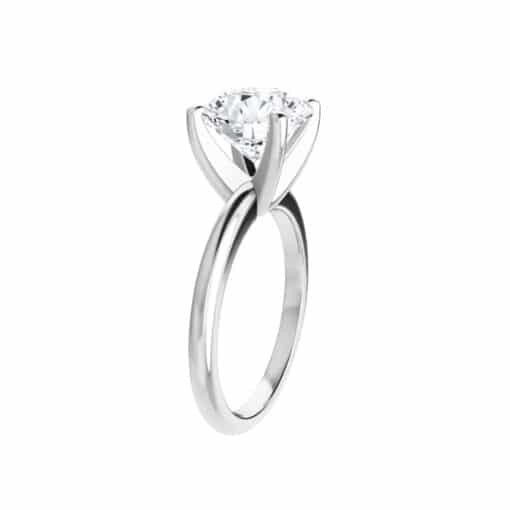 Round Moissanite Classic Solitaire Ring - 1.00tcw - 6.13tcw