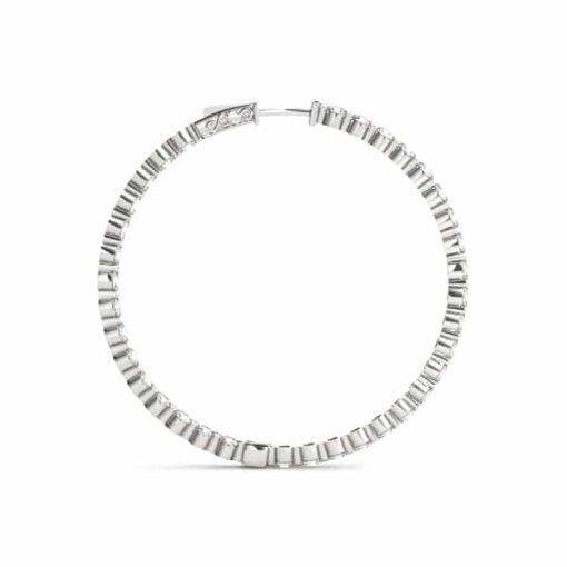 Round Moissanite Inside Outside Hoop Earrings - 3.52tcw - 8.64tcw