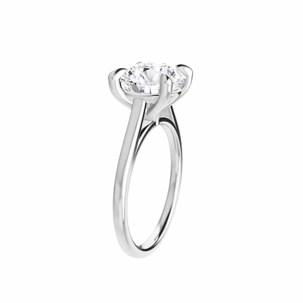 Round Moissanite Tiffany Style Solitaire Ring - 1.00ct - 3.10ct
