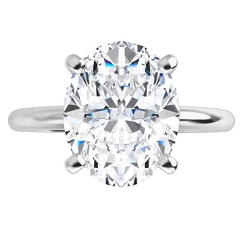 Unique Oval Moissanite Solitaire Ring - 1.50tcw - 2.10tcw