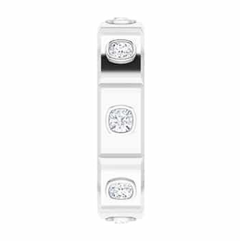 Cushion Moissanite Men's Wedding Eternity Ring - 1.04tcw