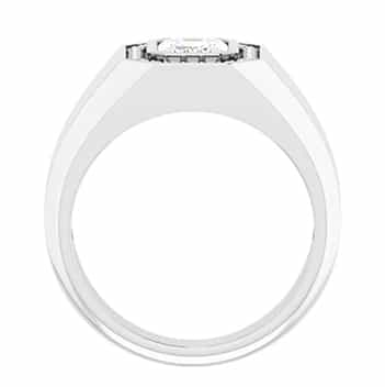 Emerald Moissanite Men's Solitaire Ring - (1.23tcw - 3.77tcw)