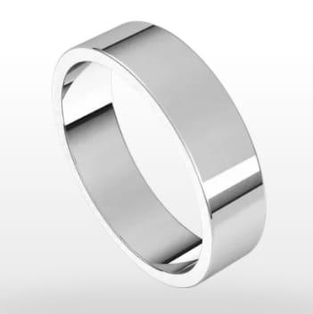 Classic Wedding Ring, Flat Profile, 5mm Width
