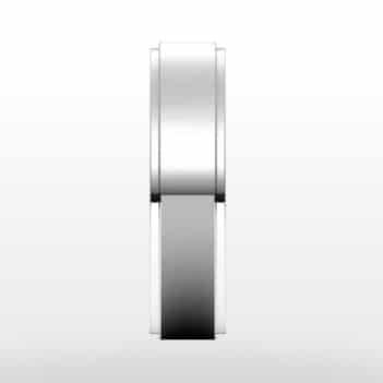 Stepped Edge Wedding Ring, Flat Profile, 5mm Width