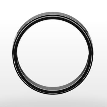 Stepped Edge Wedding Ring, Flat Profile, 6mm Width