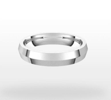 Classic Wedding Ring, Knife Profile, 4mm Width