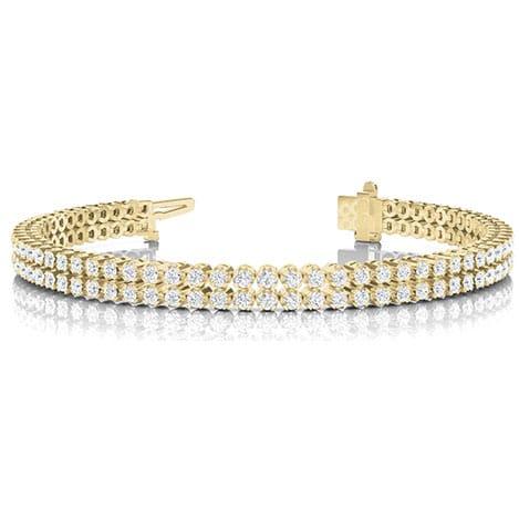 Round Moissanite Double Row Tennis Bracelet - 4.00tcw - 25.00tcw