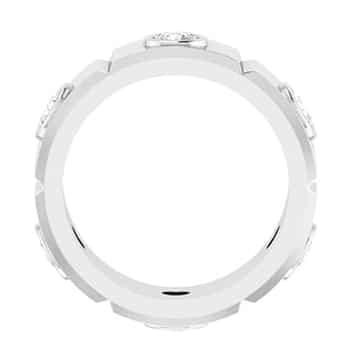Round Moissanite Men's Wedding Eternity Ring - 0.60tcw to 1.38tcw
