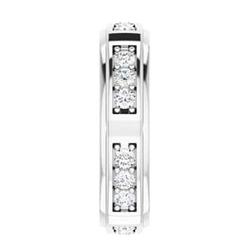 Round Moissanite Men's Wedding Eternity Ring - 1.08tcw to 1.80tcw-124135rd