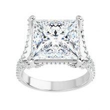 Square Moissanite Forever One Engagement Ring