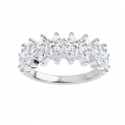 2.00 CT MARQUISE FOREVER ONE SEMI ETERNITY RING