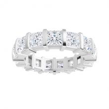 Square Forever One Moissanite Full Eternity Wedding Band Ring