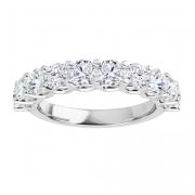 round moissanite forever one semi eternity ring
