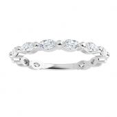 Marquise Moissanite Anniversary Wedding Band Ring - 0.84tcw - 2.30tcw