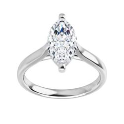 Marquise Moissanite Unique Solitaire Ring - 1.00ct - 1.80ct