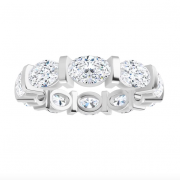 Oval Moissanite Eternity Wedding Band Ring - 5.00tcw