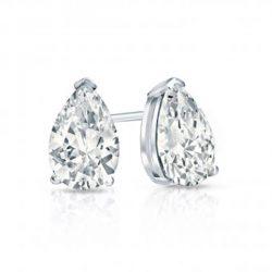 Pear Moissanite Stud Earrings - 0.86tcw - 7.14tcw