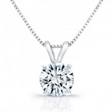 Round Moissanite Forever One Near Colorless Pendant