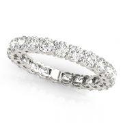 Round Moissanite Common Prong Eternity Wedding Band Ring - 1.30tcw - 14.00tcw