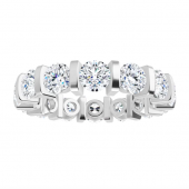 Round Moissanite Eternity Wedding Band Ring - 3.50tcw
