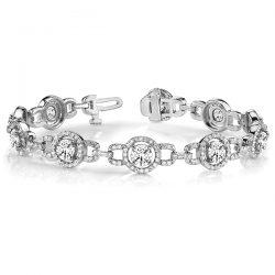 Round Moissanite Fashion Tennis Bracelet - 5.08tcw - 7.56tcw