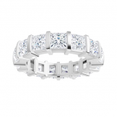 Square  Moissanite Eternity Wedding Band Ring - 6.15tcw