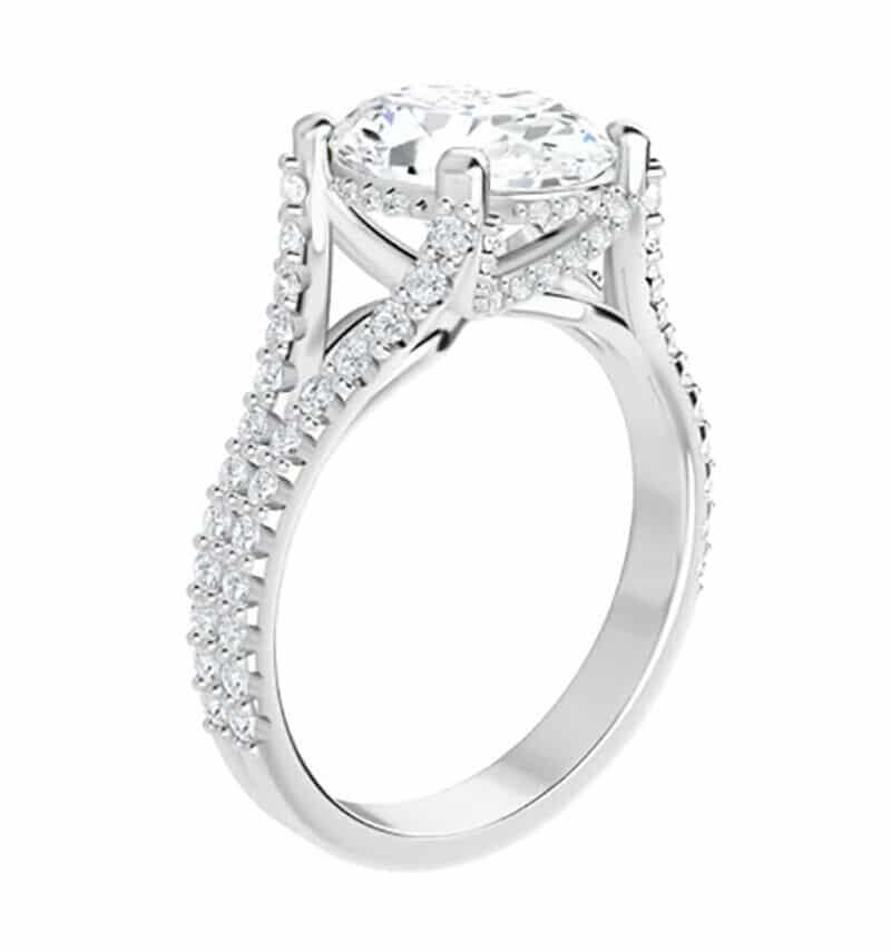 Cushion Moissanite  Moissanite Engagement Ring - 3.70tcw - 6.02tcw