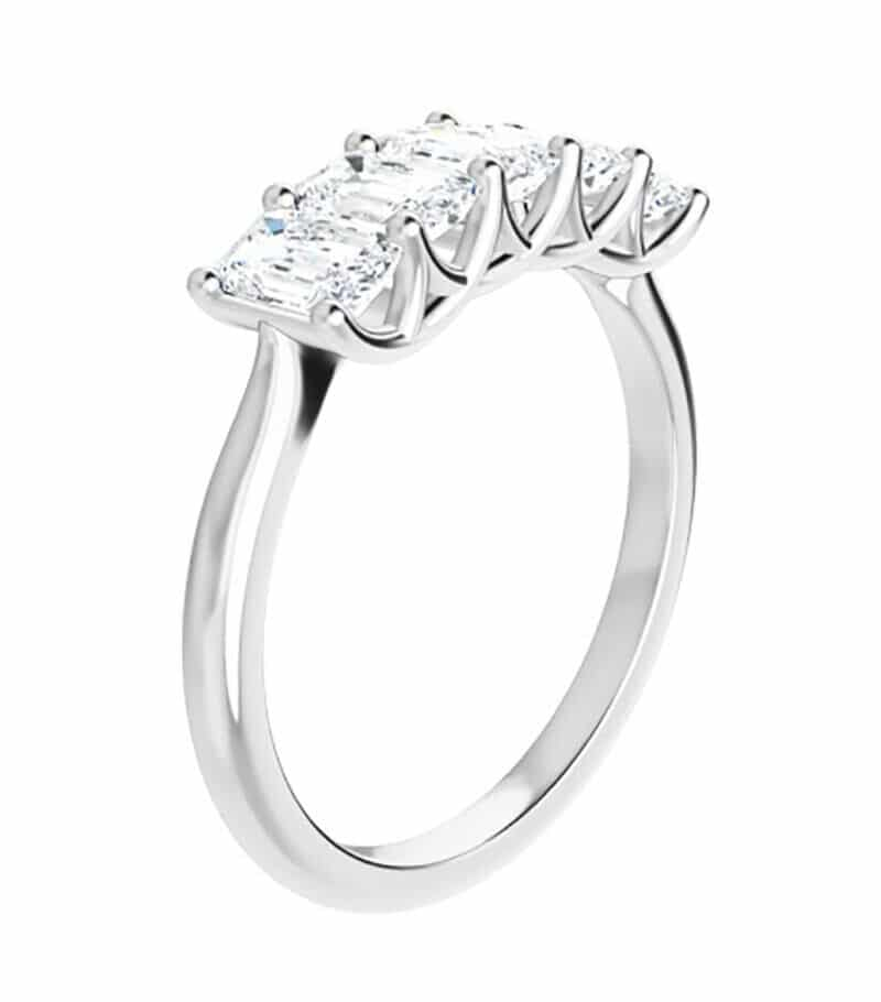 Emerald Moissanite Anniversary Wedding Band Ring - 3.75tcw - 8.75tcw