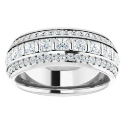 Round & Square Moissanite  Eternity Ring - 3.65tcw