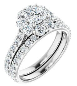 Cushion Moissanite Halo Engagement Ring - 4.70tcw - 6.30tcw