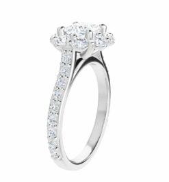 Cushion Moissanite Halo Engagement Ring - 4.70tcw - 6.30tcw